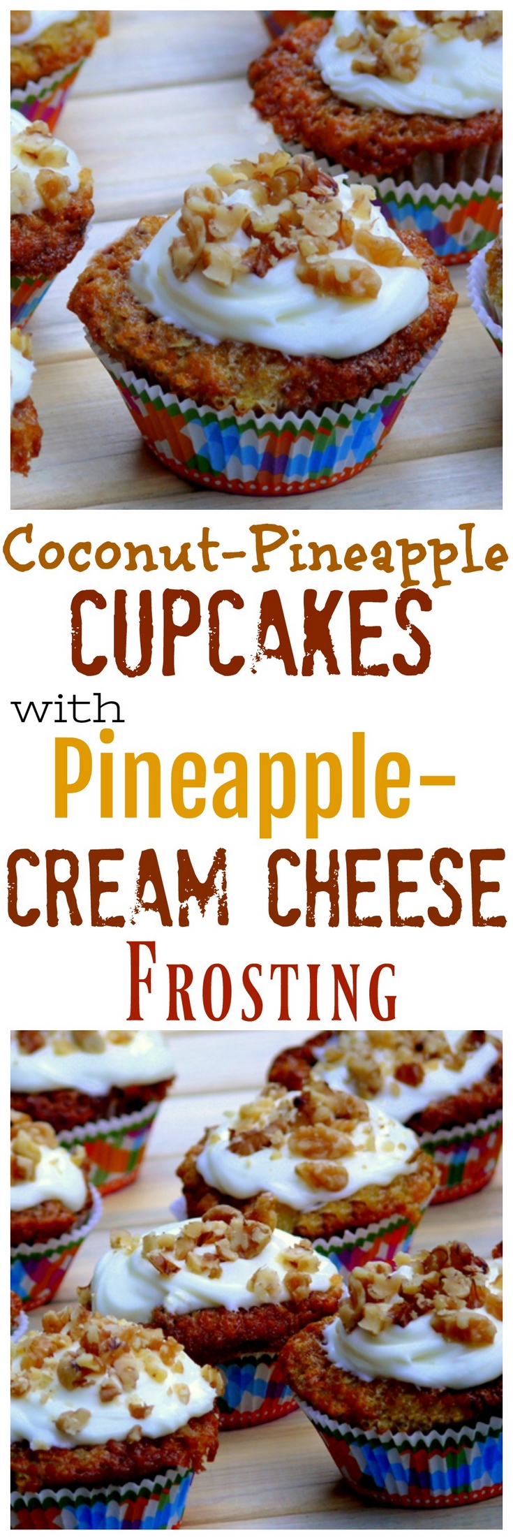 VIDEO + RECIPE: You will have to hide these Coconut-Pineapple Cupcakes with Pineapple-Cream Cheese Frosting from yourself. They are sticky, sweet and perfectly delicious. It's hard to describe with words just how yummy they taste. via @cmpollak1