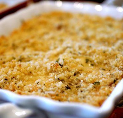 Crunchy Gruyere-Alfredo Chicken Bake