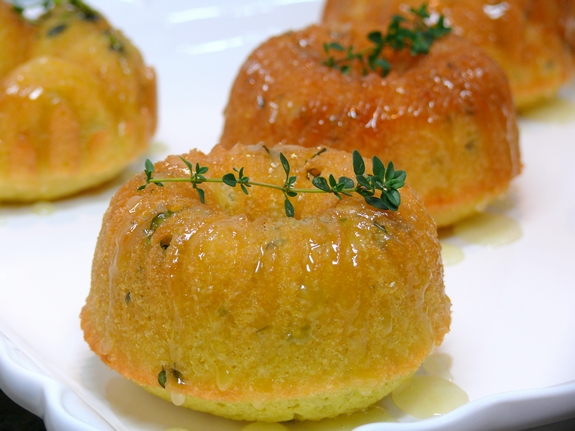 Mini Lemon Thyme Pound Bundt Cakes With Lemon Thyme Glaze