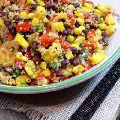 Southwestern Black Bean, Quinoa and Mango Medley