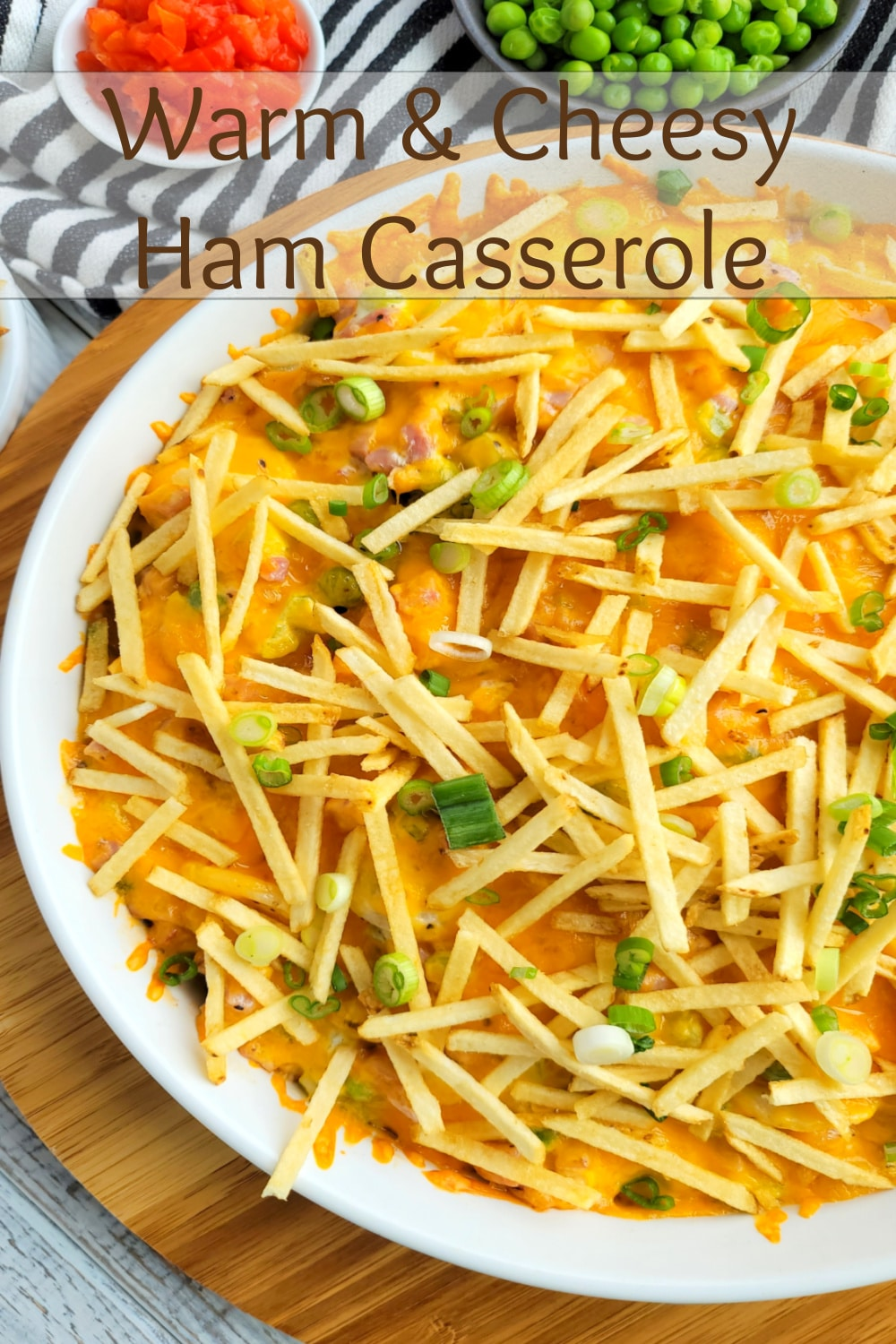 A Warm and Cheesy Ham Casserole that is going to change the way you feel about the taste of certain ingredients together. This casserole is a flavor powerhouse and will take your taste buds by surprise. via @cmpollak1