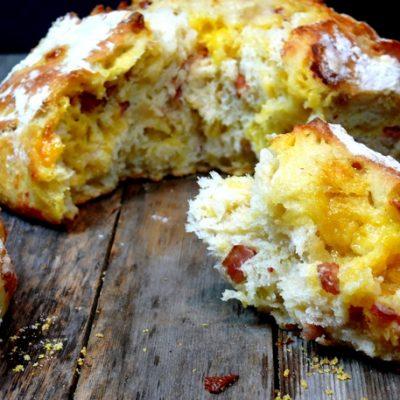 Easy Artisan Bacon-Cheese Bread