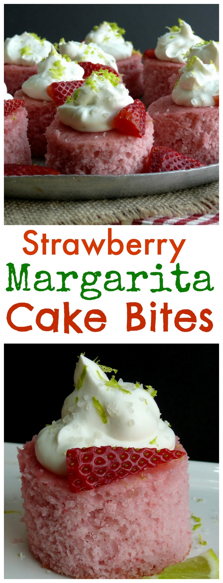 Strawberry Margarita Cake Bites Video