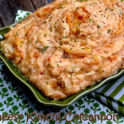 Cheesy Kimchi Colcannon