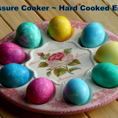 Hard Cooked Pressure Cooker Eggs