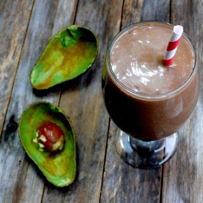 Minty Chocolate Avocado Shake