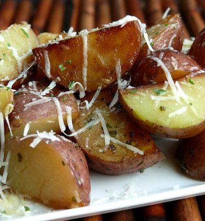 Cheesy-Italian Pressure Cooker Potatoes