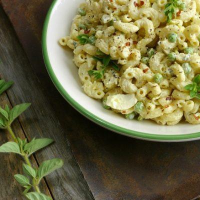Spicy Horseradish Macaroni Salad + VIDEO