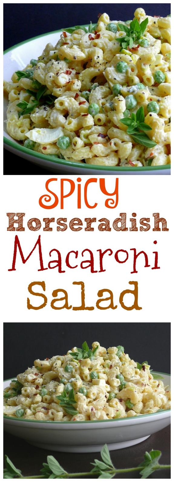 Spicy Horseradish Macaroni Salad