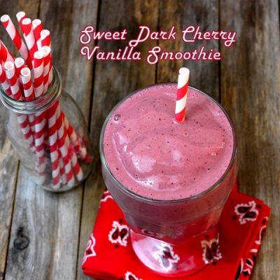 Sweet Dark Cherry Vanilla Smoothie