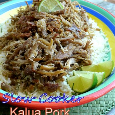 Slow Cooker Kalua Pork with Chive-Lime Rice + VIDEO