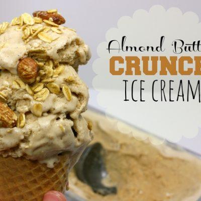 Almond Butter Crunch Ice Cream