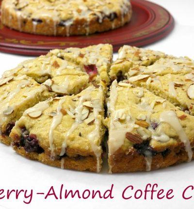 Fresh Cherry-Almond Coffee Cake