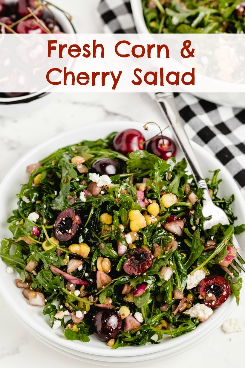 Fresh corn and cherry salad is a delicious celebration of summer flavors. Bright and juicy, thanks to the cherries that pair perfectly with the natural sweetness of the corn. Get this on your summer table! via @cmpollak1