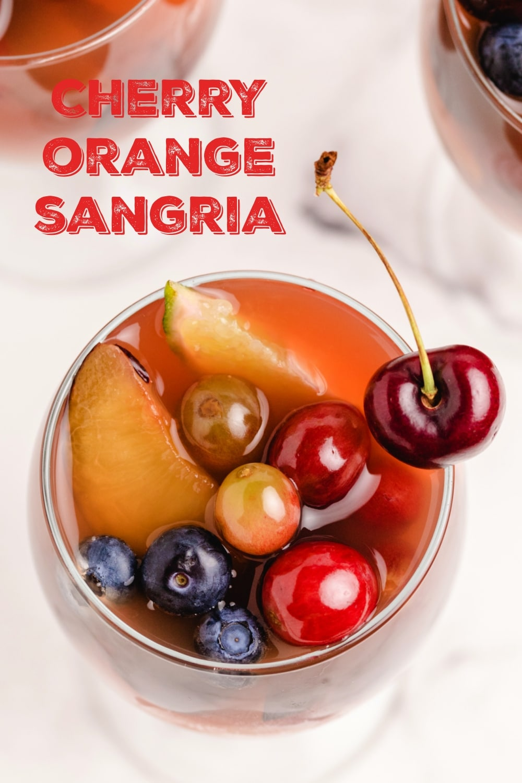 Enjoy the abundance of cherry season with a favorite cherry sangria recipe. Fresh cherries, oranges and grapes make this sangria look as amazing as it tastes. via @cmpollak1
