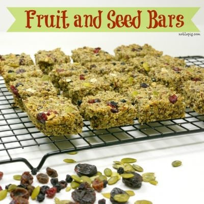 Fruit and Seed Bars {nut free} + Giveaway