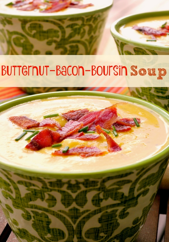 Butternut Boursin Bacon Soup