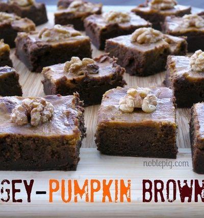 Fudgey-Pumpkin Brownies