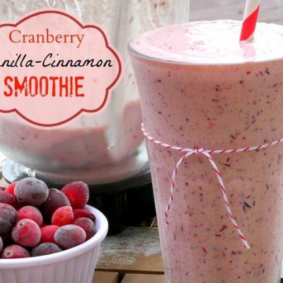 Cranberry-Vanilla-Cinnamon Smoothie