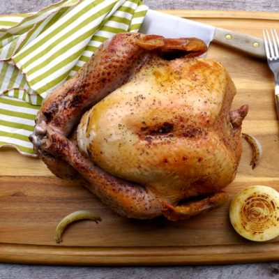 The Juciest Salt and Pepper Turkey made in an Electric Roaster