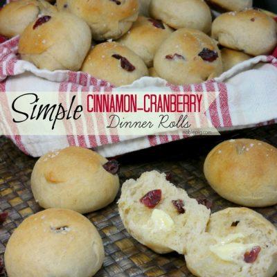 Simple Cinnamon-Cranberry Dinner Rolls