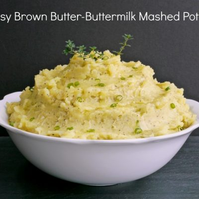 Cheesy Brown Butter-Buttermilk Mashed Potatoes & a Cheese Filled Holiday Menu