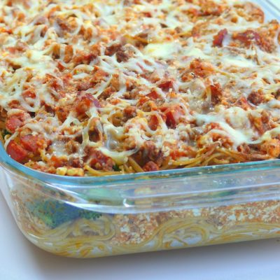 Healthier Spaghetti Bake + VIDEO