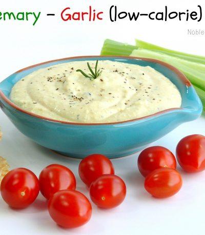 Rosemary-Garlic (low-calorie) Dip