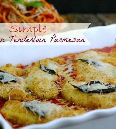 Simple Chicken Tenderloin Parmesan
