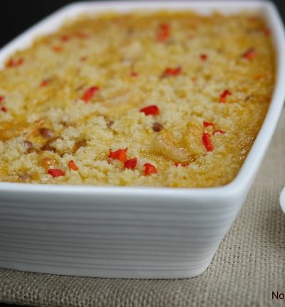 Cheesy Cajun Shrimp and Rice Casserole