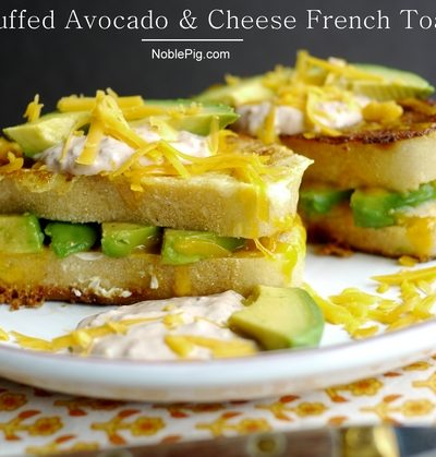 Stuffed Avocado and Cheese French Toast