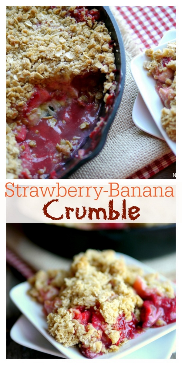 An irresistible Strawberry-Banana Crumble is the perfect celebration of a comforting, summer dessert. Serve it with a scoop of vanilla ice cream and watch everyone ask for a second helping.   via @cmpollak1