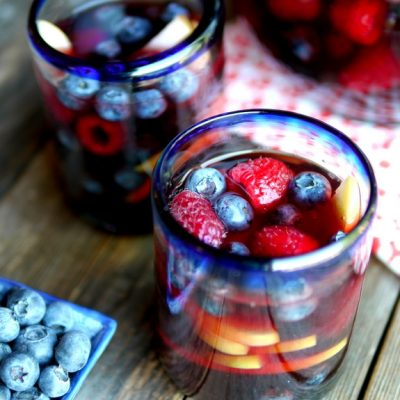 Red, White & Blue Sangria + VIDEO