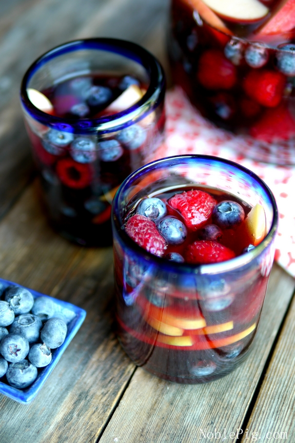 Red white and blue sangria from noble pig blog