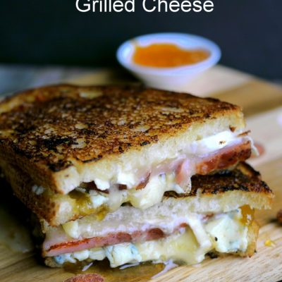 Melty Ham, Brie and Peach Grilled Cheese