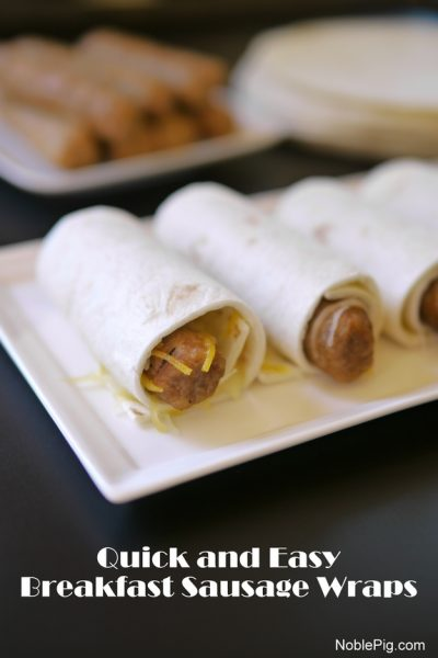 Quick and Easy Breakfast Sausage Wraps