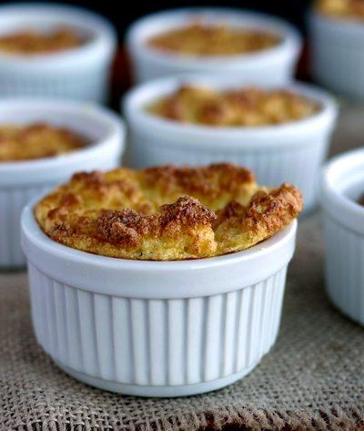 Mini Cauliflower-Boursin Souffles