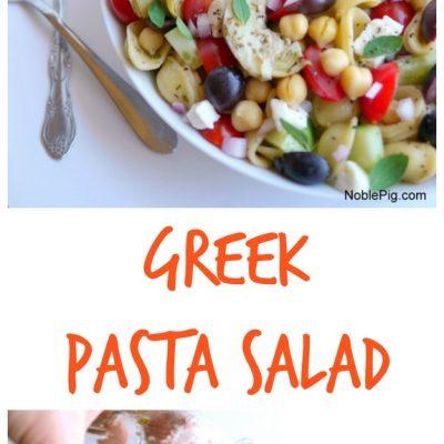 Greek Pasta Salad + VIDEO