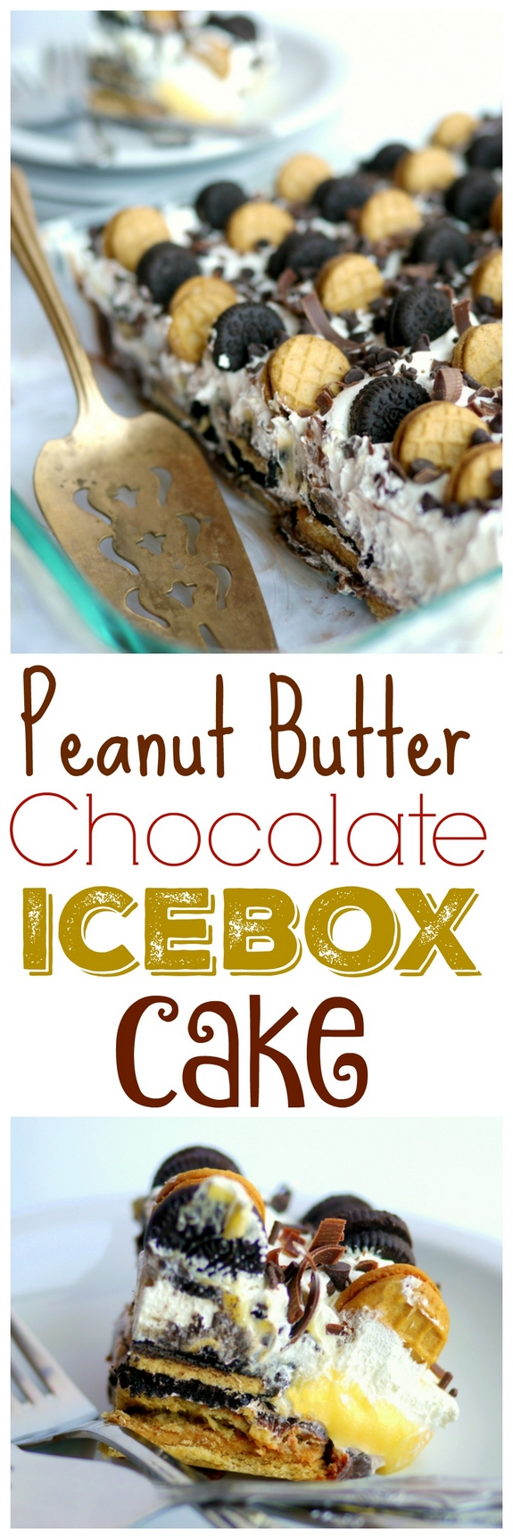 Peanut Butter Chocolate Icebox Cake