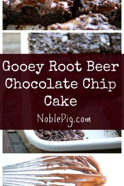 Gooey Root Beer Chocolate Chip Cake + Video