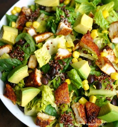 Southwest Chicken Salad with Homemade Southwest Dressing