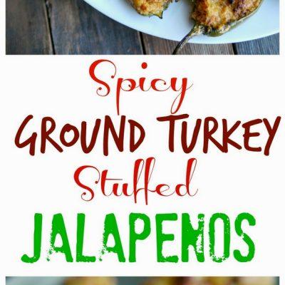 Healthier Spicy Ground Turkey Stuffed Jalapenos