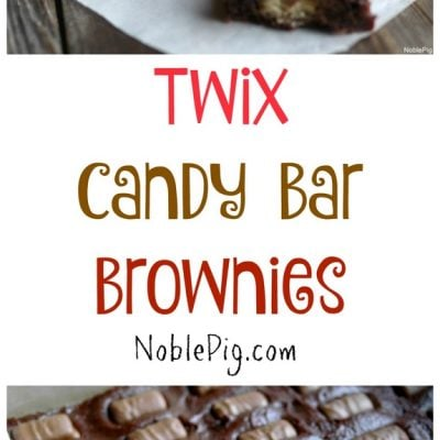 Twix Candy Bar Brownies