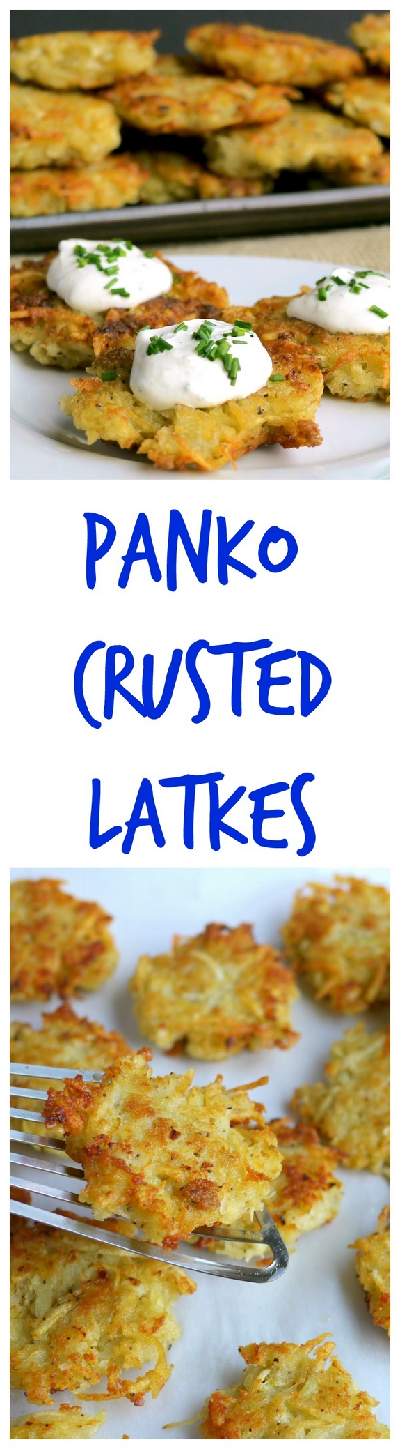Panko Latkes with Horseradish Sour Cream via @cmpollak1