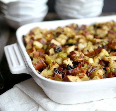 Pretzel Bread, Bacon and Apple Stuffing