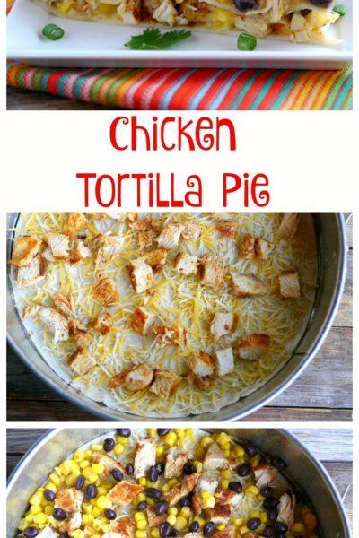 Quick Chicken Tortilla Pie + VIDEO