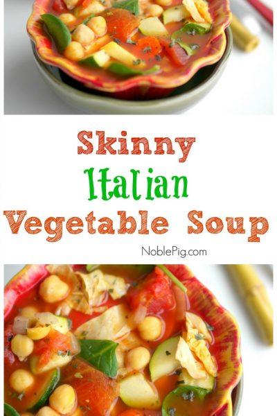 How to Make Skinny Italian Vegetable Soup + VIDEO