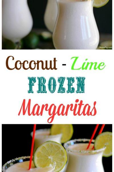 Coconut Lime Frozen Margaritas