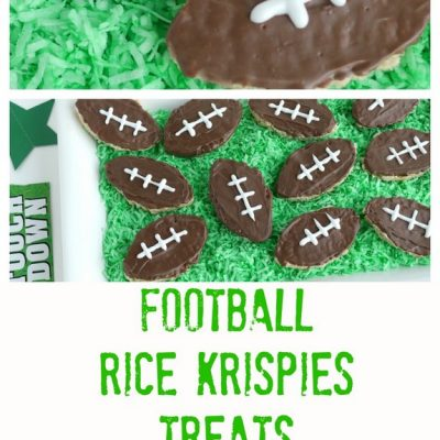 Football Inspired Rice Krispies Treats