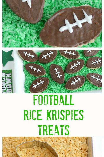 Football Inspired Rice Krispies Treats